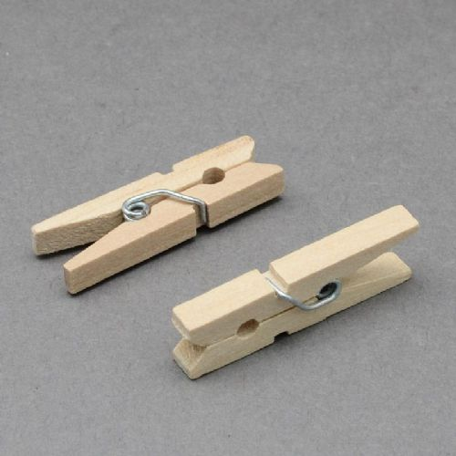 Wooden Craft Pegs 25x3mm (100)
